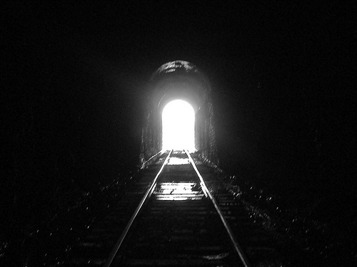 A light at the end of a tunnel